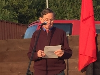 Harry Owens speaking at the 2015 Commemoration