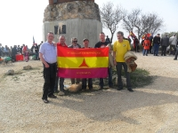 International Brigades monument in Morata. L-R - Gearoid McCashin, Steve McCann, Tom Redmond, Ger Murray, Christopher Carey and Christy
