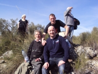 Jamara Commemorative Walk - British Battle Positions L-R Tom Redmond, Paul Heffernan, Christopher Carey and Peter