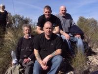 Jamara Commemorative Walk - British Battle Positions L-R Tom Redmond, Christopher Carey, Steve McCann and Peter