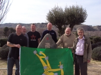 Jamara Commemorative Walk - British Battle Positions Charlie Donnelly Memorial L-R Steve McCann, Peter