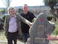 Jamara Commemorative Walk - British Battle Positions Charlie Donnelly Memorial L-R Tom Redmond & Steve McCann
