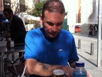 Simon Redmond relaxing in Madrid