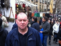 Steve McCann at the Sunday Market in Madrid