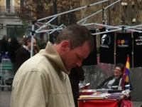 Christopher Carey at the Sunday Market in Madrid