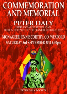 Peter Daly Commemoration 2011