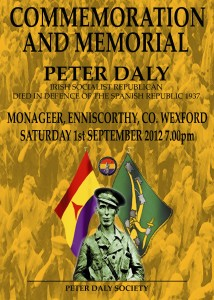 Peter Daly Commemoration 2012