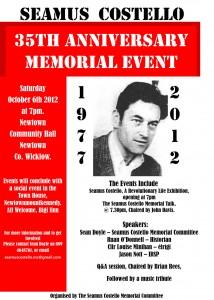 Seamus Costello 35 th Anniversary Memorial Event