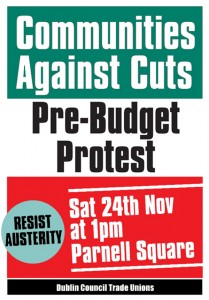 Communities against Cuts Pre Budget Protest