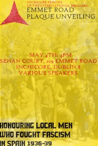 International Brigades Plaque Unveiling - Inchicore - Dublin - Saturday 4th May