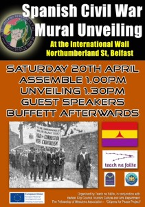 Mural Unveiling in Belfast - Saturday 20th April 2013