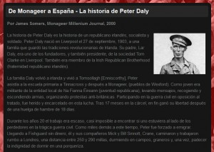 Peter Daly Website - Spanish Translation