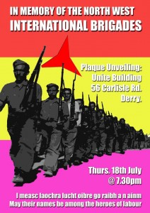 Spanish Civil War plaque to be unveiled in Derry