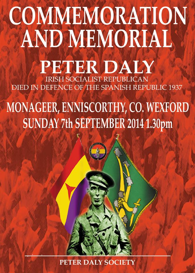 The Peter Daly Society – Commemoration 2014 – Monageer, Co. Wexford