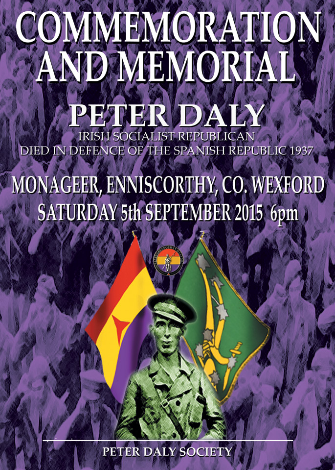 The Peter Daly Society – Commemoration 2015 – Monageer, Co. Wexford